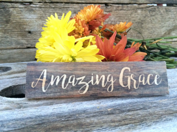 Amazing Grace (wooden sign)