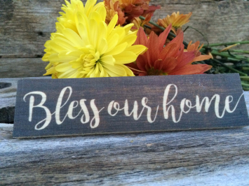 Bless our Home (wooden sign)