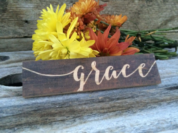 Grace (wooden sign)