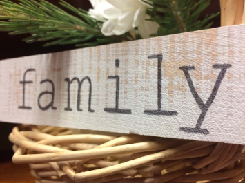Family (wooden sign)
