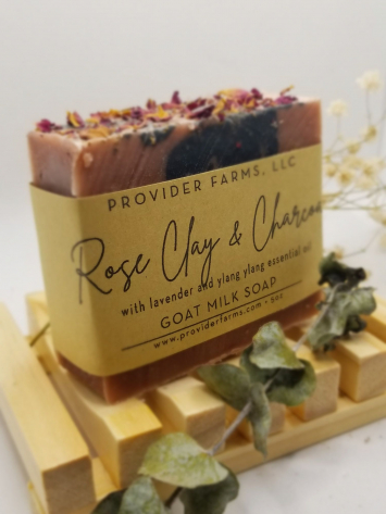 Goat Milk Soap (Rose Clay & Charcoal)