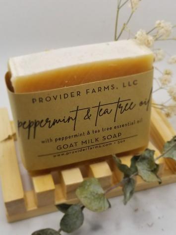 Goat Milk Soap (Peppermint & Tea Tree)