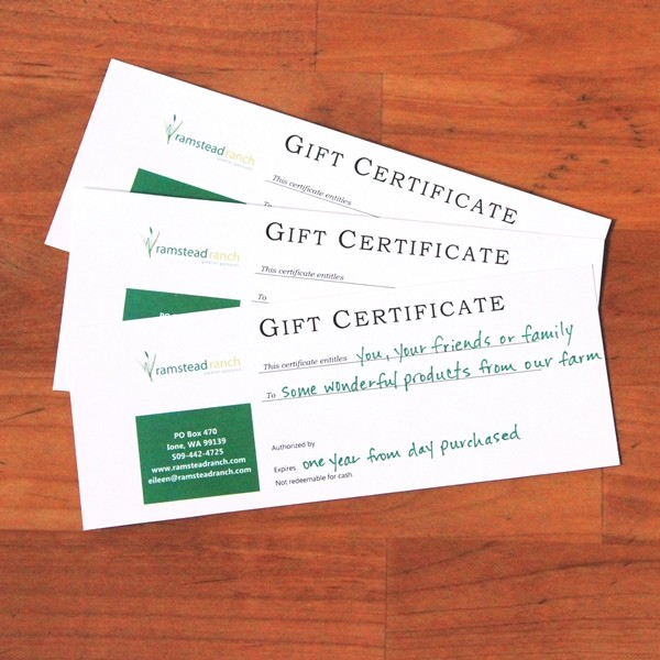 Gift Certificate--$25