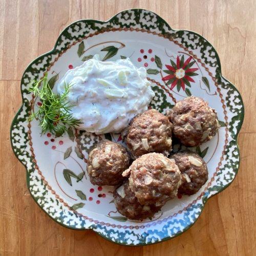 RECIPE: Lamburgini Meatballs With Tzatziki Sauce
