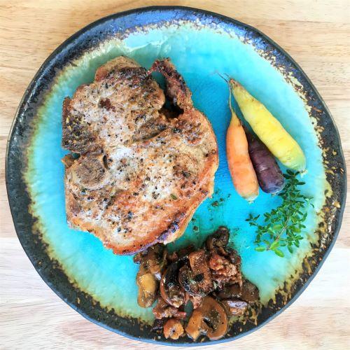 Pork Chops With Garlic & Rosemary