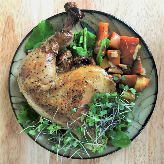 RECIPE: Cider-Braised Chicken Legs