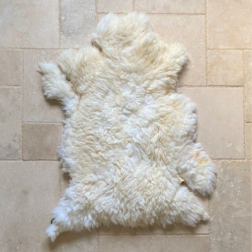 Grassfed Sheep Skin, All White