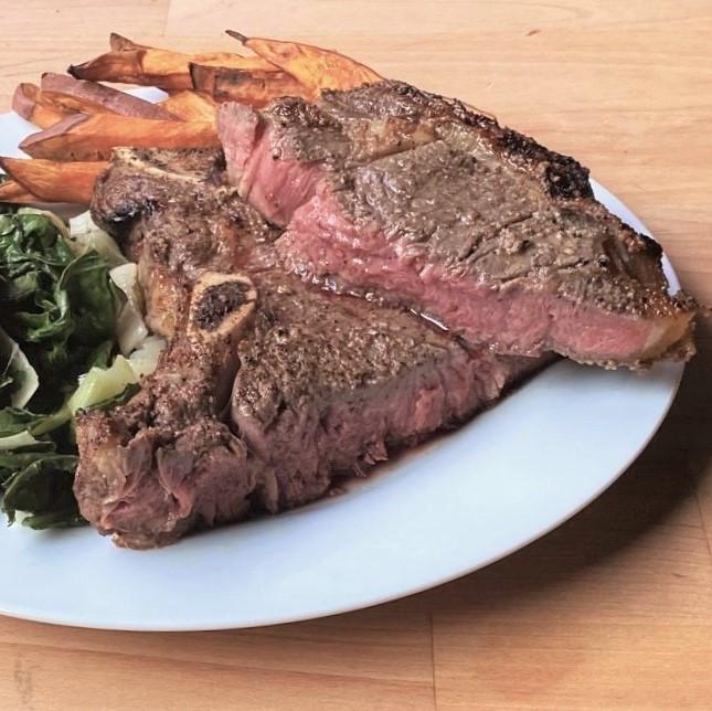 Grassfed Steaks On The Broiler