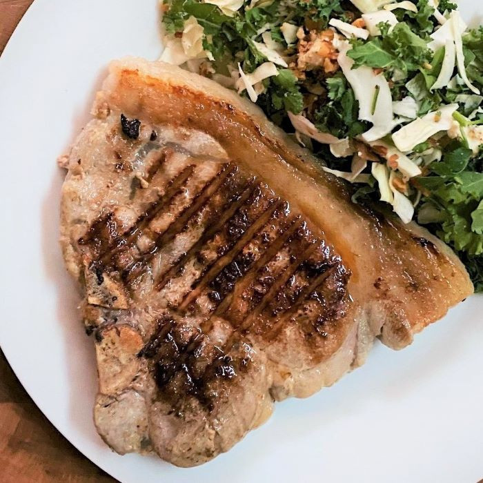 Herb-Brined Pork Sirloin Chops