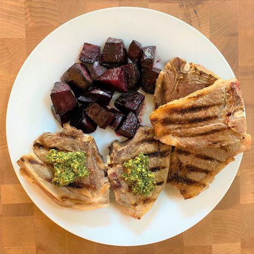 RECIPE: Lamb Chops With Pistachio Mint Pesto