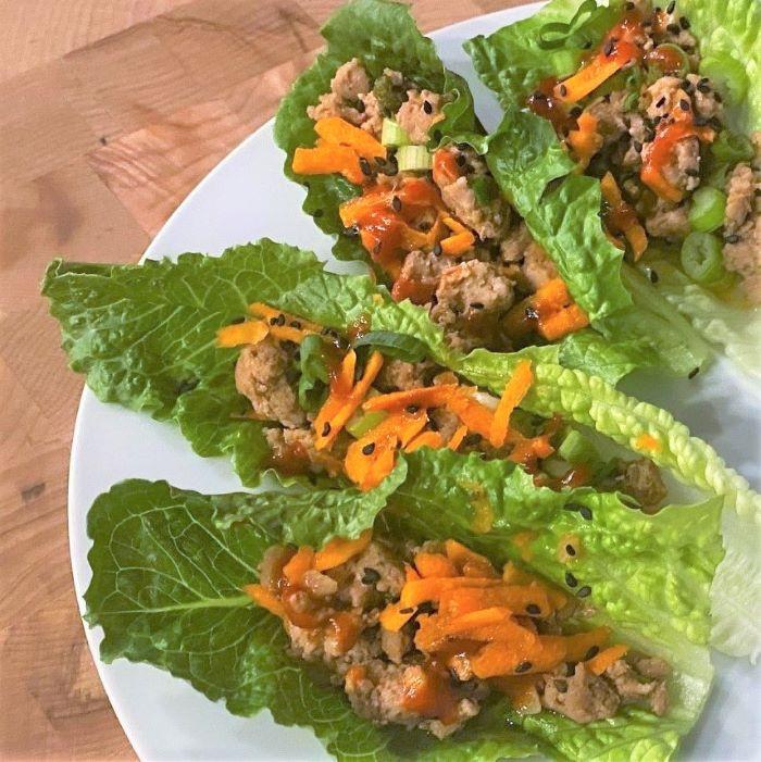 Sweet & Spicy Pork Lettuce Wraps