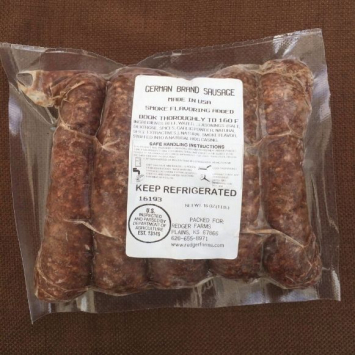 Beef German Sausages (Thuringer Style)