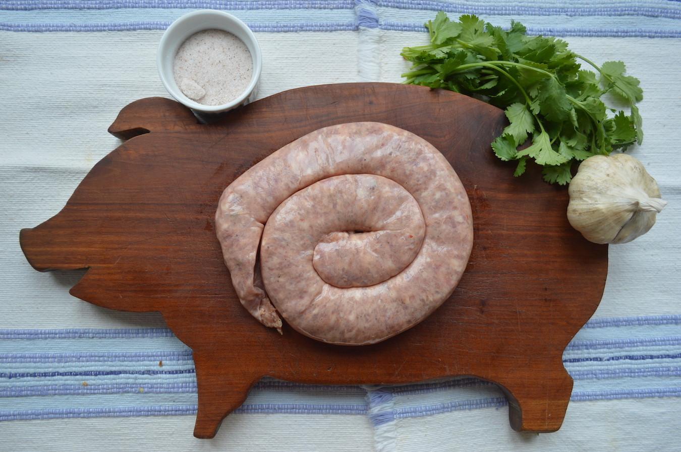 Pasture Raised Pork HOT Italian Sausage - Coil