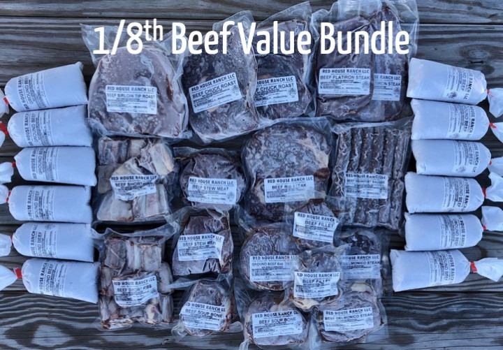 1/8th Grass Finished beef value bundle