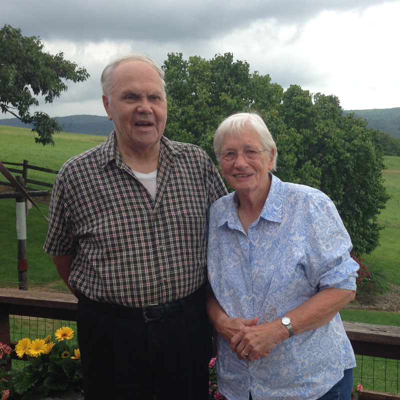 Ruth and Ike Mallula on their farm in 2014