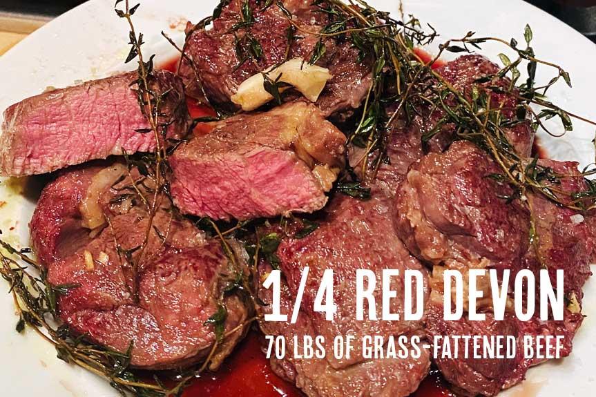 1/4 Devon beef