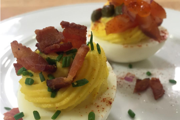 Deviled Bacon and Eggs
