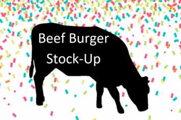 Beef Burger Stock Up!