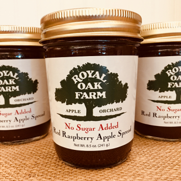 Jam - Red Raspberry Apple Spread - No Sugar Added