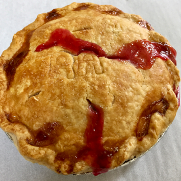 Baked Raspberry Apple Pie - Small