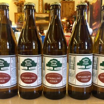 Honeycrisp Sparkling Cider - 16.9 oz. glass bottle