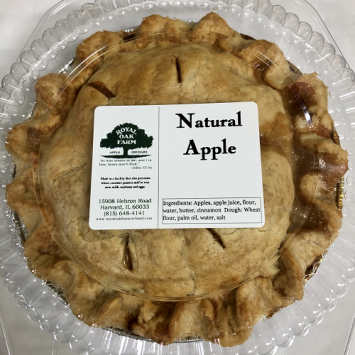 Baked Natural Apple Pie - Small