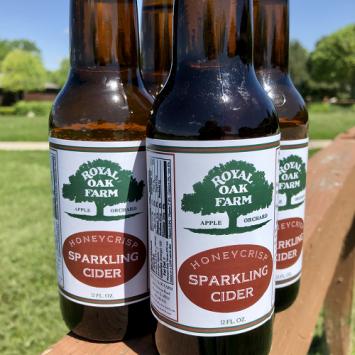 Honeycrisp Sparkling Cider - 12 oz. glass bottle