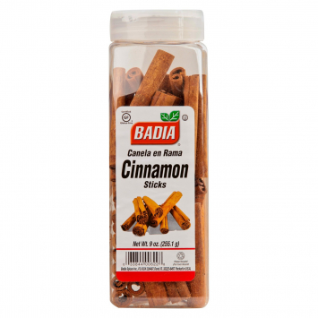 Canela En Rama Cinnamon Sticks BADIA 9 Oz