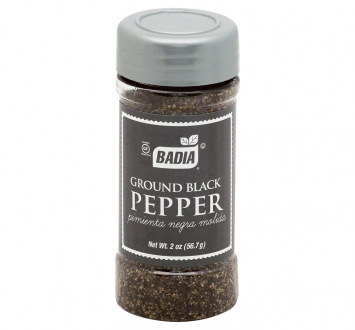 Ground Black Pepper Pimienta Negra BADIA 2 Oz