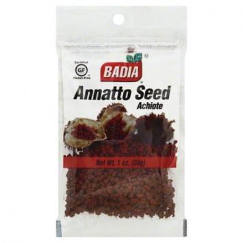 Annatto Seed Achiote BADIA 1 Oz