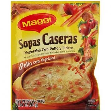 Sopas caseras Vegetales con Pollo y Fideos MAGGI 3.24 Oz