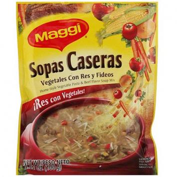 Sopas caseras Vegetales con Res MAGGI 3.24 Oz