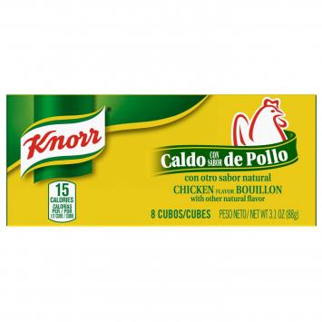 Caldo Sabor a Pollo KNORR 3.1 Oz 8 Cubos