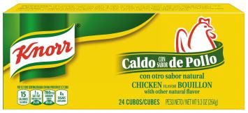 Caldo Sabor a Pollo KNORR 9.3 Oz 24 Cubos
