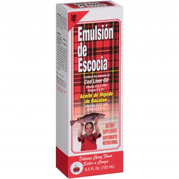 Aceite De Higado De Bacalao EMULSION DE ESCOCIA 6.5 Fl (Fresa)