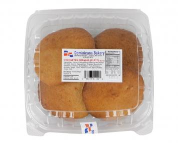 Coconetes Grandes Dominicana Bakery 12 oz 6 Pcs