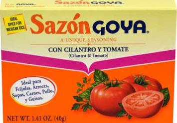 Sazon con Cilantro y Tomate GOYA 1.41 Oz 8 PK