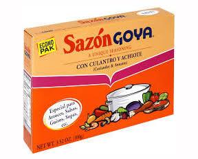 Sazon Con Culantro & Achiote GOYA 3.52 Oz 20 Sobres