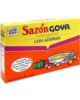 Sazon Con Azafran GOYA 3.52 Oz 20 PK