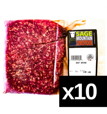 10lbs Grass-Fed Ground Beef Package (1lb packages)