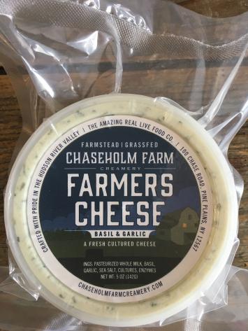 Farmer's Cheese - Basil and Garlic