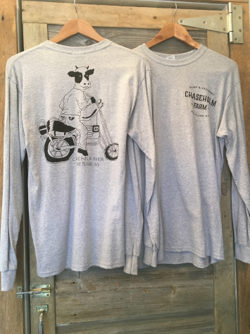 Grey motocow long sleeve, L