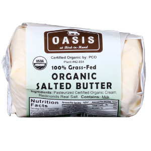 Butter, Salted, Organic & Grass Fed