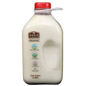 Whole Milk, Organic & Grass Fed, 1/2 Gallon (price includes $2 Bottle Deposit)