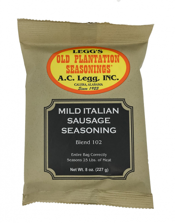 Legg's Mild Italian Sausage Seasoning