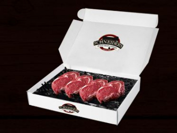 Choice Rib Eye Steaks - 4 - 8 oz.