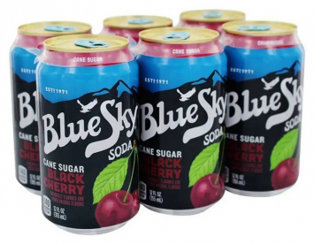 Blue Sky Black Cherry Soda