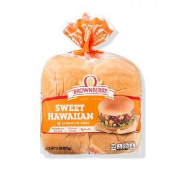 Brownberry Sweet Hawaiian Sandwich Buns