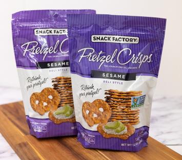 Snack Factory Sesame Pretzel Crisps