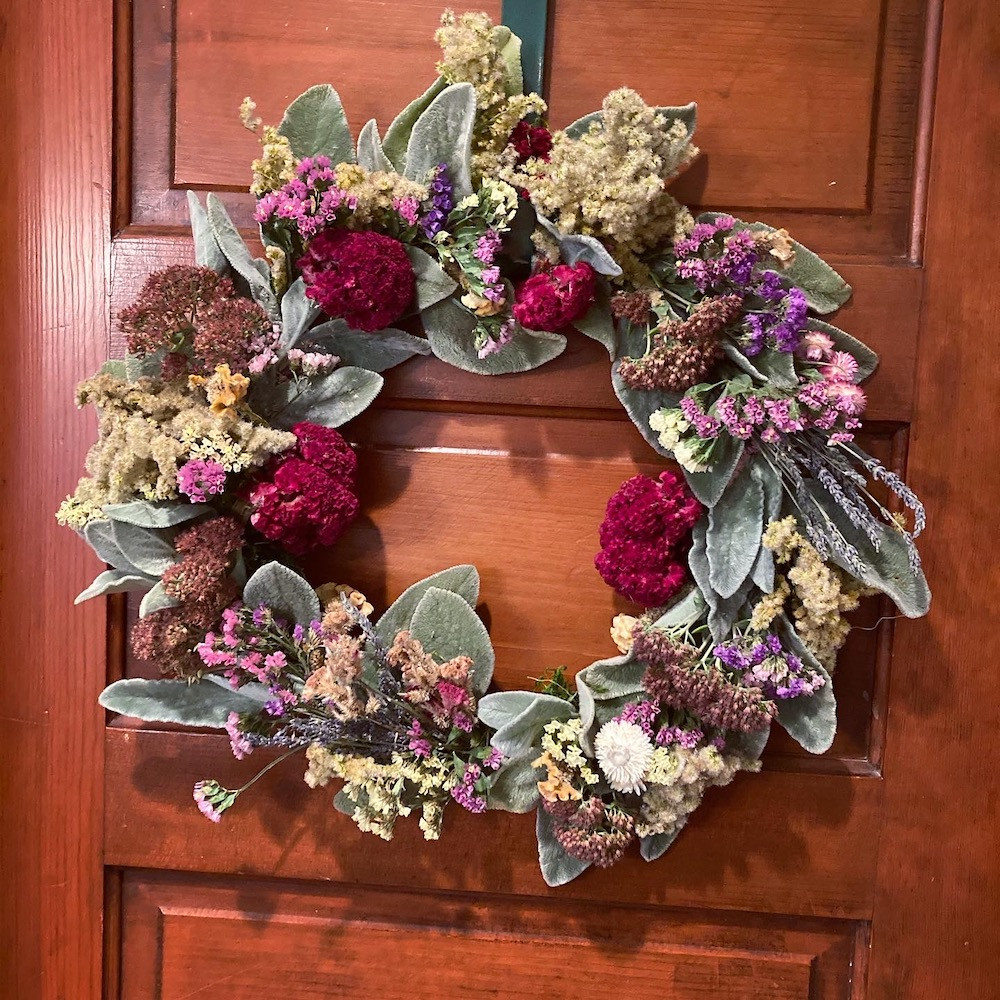 Soft & Sassy BeSpoke Dried Floral Wreath